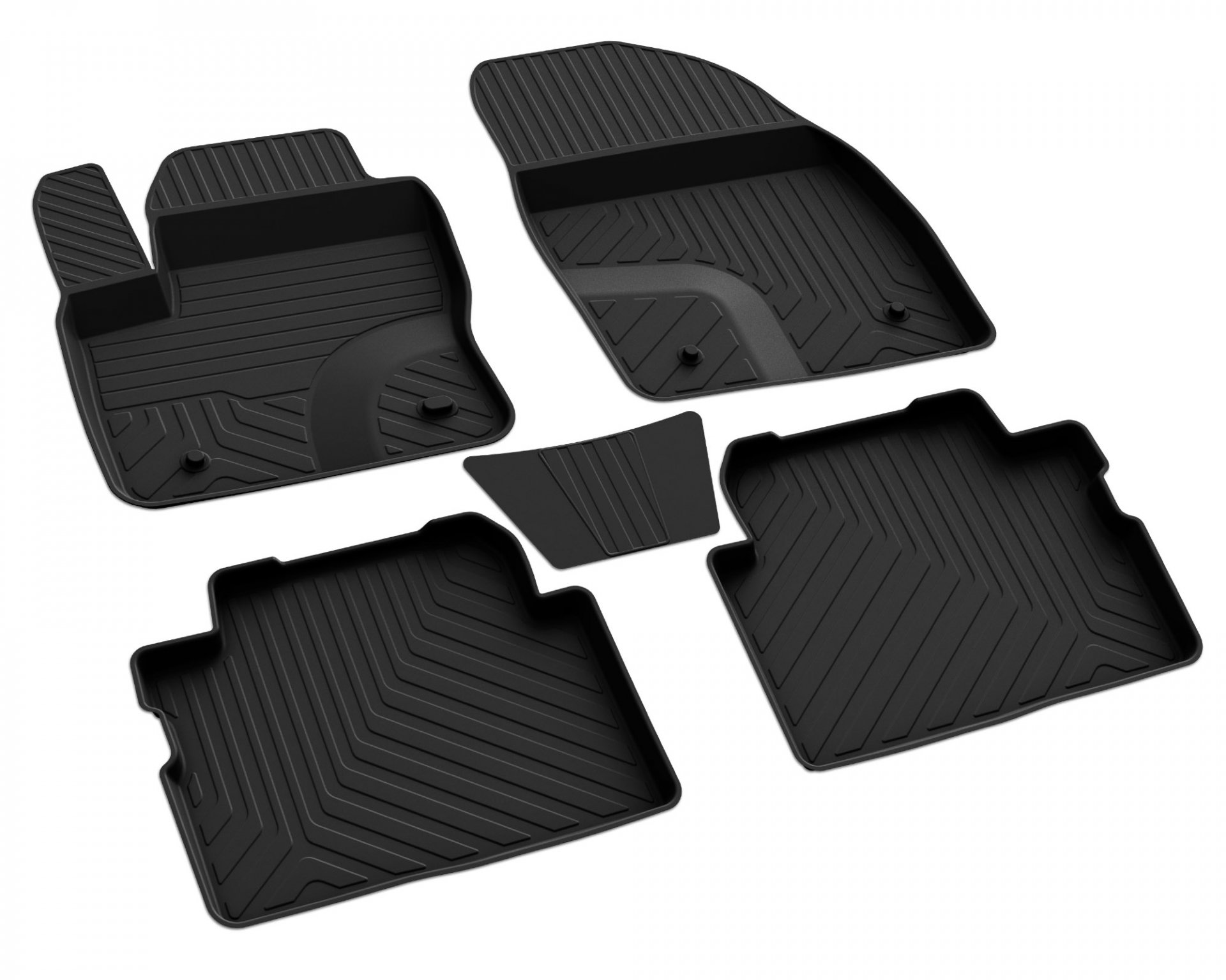 ford kuga 1 gen gummifussmatten set baujahr 2008 2012. Black Bedroom Furniture Sets. Home Design Ideas